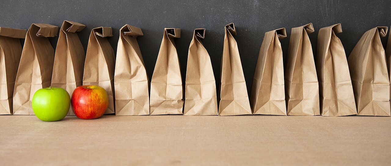 multiple brown lunch bags